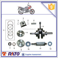 CG175D Motorcycle crankshaft, motorbike piston, piston ring and motorcycle engine balance shaft for ITALIKA FT180 engine