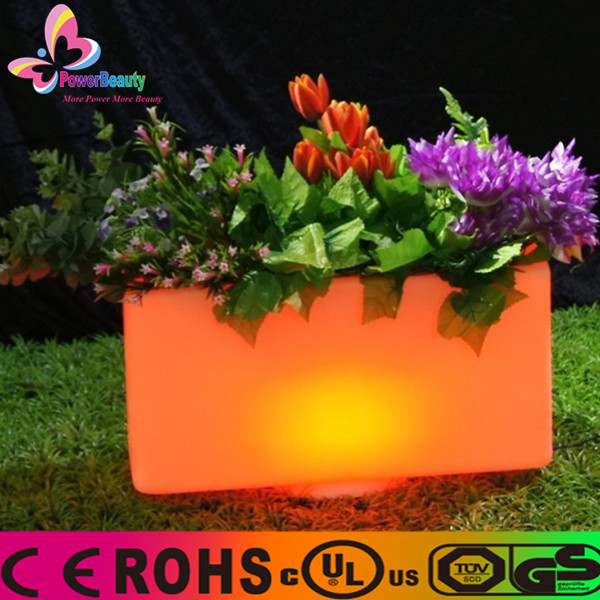2015 fancy manufacturing outdoor waterproof wireless remote control battery powered illuminate led plant grow light flower pot