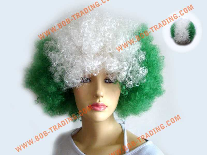 2015 Cheapest Football fans wig,Party wig hair dryer manufacture