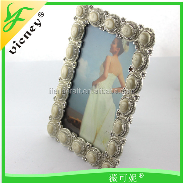 Crystal Noble Square Pearl Photo Frame With Hot Sales