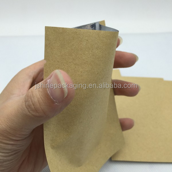 aluminum foil lined small brown Kraft paper bags