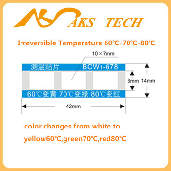irreversible / Single-use / high temperature indicator label