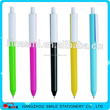 Low price Logo ball pen Custom Promotional Plastic eco multi color ball pen for gift
