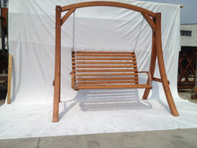 Adult Garden Free Standing wooden Swing Chair Double wooden Swing seat 2 Seaters wooden Swing For Adults---ODF102