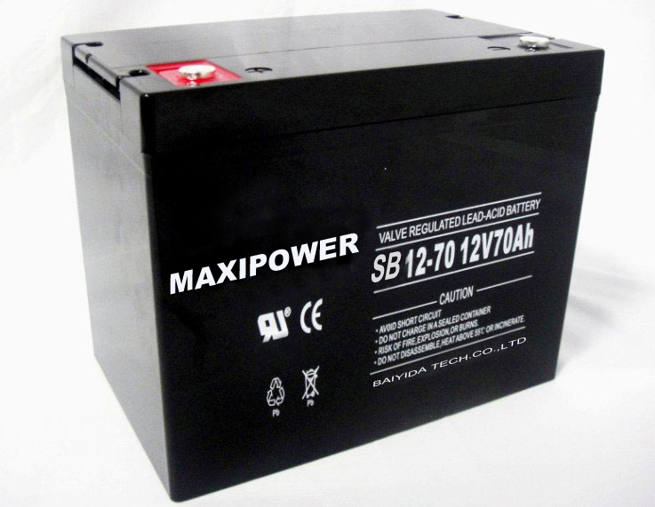 12v 70ah solar gel rechargeable battery AGM battery for UPS, deep cycle