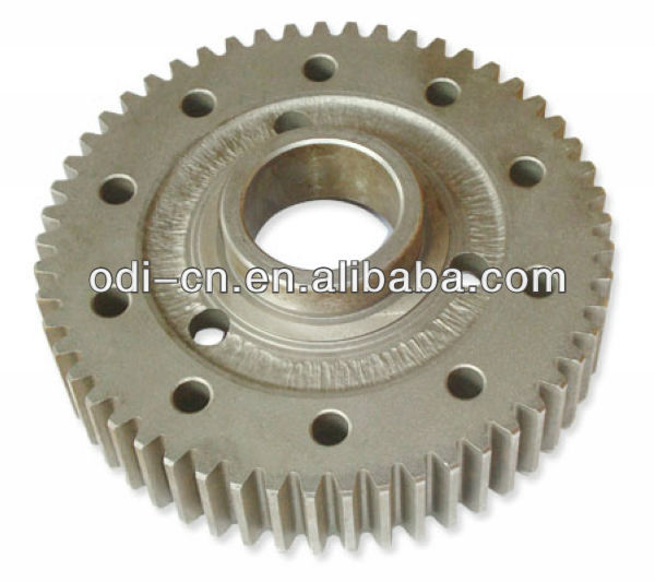 aluminum/steel/stainless steel customized straight spur gear with holes for printer