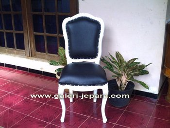 Chair with Genuine Leather - Wood Furniture Indonesian
