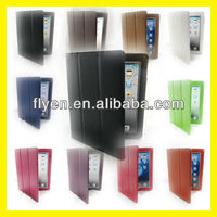 for The New iPad 4 3 2 Generation Smart Cover PU Leather Case Stand Stylish Folio Trifold Tri Fold Cases Covers Black