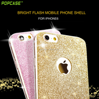 Factory price beautiful colorful shimmering powder TPU phone case for Iphone6