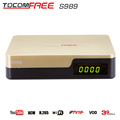 2017 Free shipping cost satellite receiver tocomfree s989 with ACM iks sks free for Brazil Colomiba Ecuador Paraguay