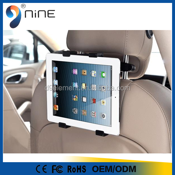 2016 Universal 360 Degree Rotating Car Headrest Grip Tablet PC Mount Holder for iPad, Galaxy, & all Tablets up to 11""