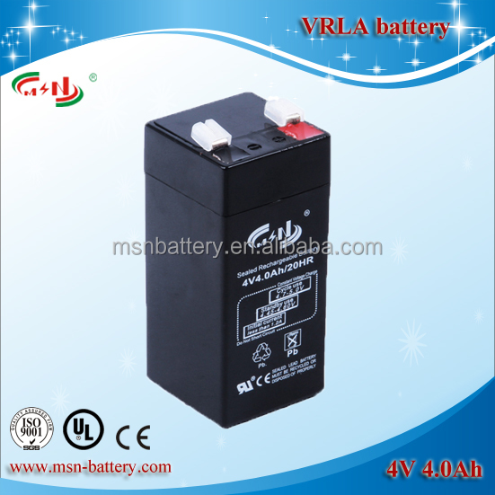 Hot sale 4V 4Ah lead acid battery used for electric scale
