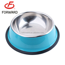 high quality 304/201 Stainless steel pet bowl dog bowl for wholesale