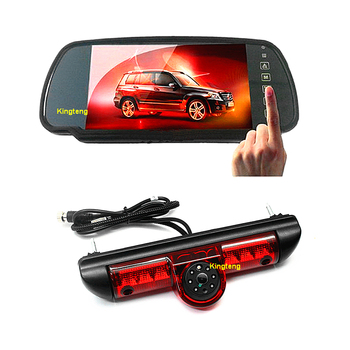 7 Car Mirror Monitor Screen + Brake Light Parking Camera For Boxer, Relay & Boxer