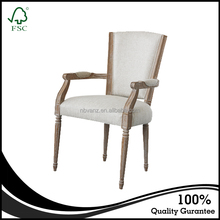 Customized high quality french provincial chair hotel furniture wooden dining chair
