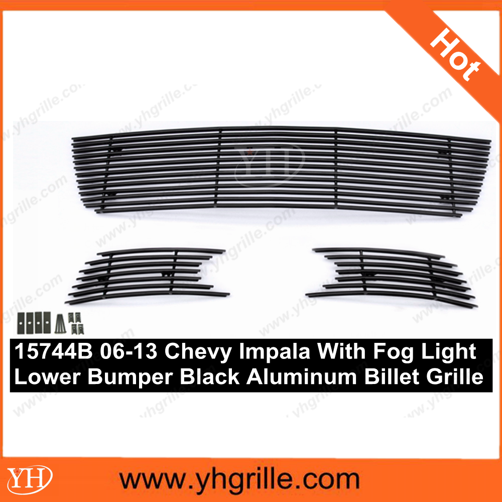 Hot sale 2006-2013 Chevy Impala With Fog Light Black auto front Bumper Grille