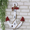Painted Nautical Style Decoration Anchor Wooden