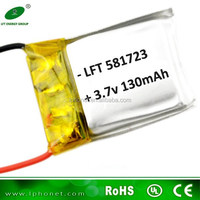 581723 3.7v 130mah li-ion polymer rechargeable lipo battery for Mini TY901 RC Helicopter