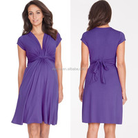 Hot Sale Purple Knot Front Maternity