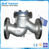 Tianjin BELL stainless steel flap valve check dn40