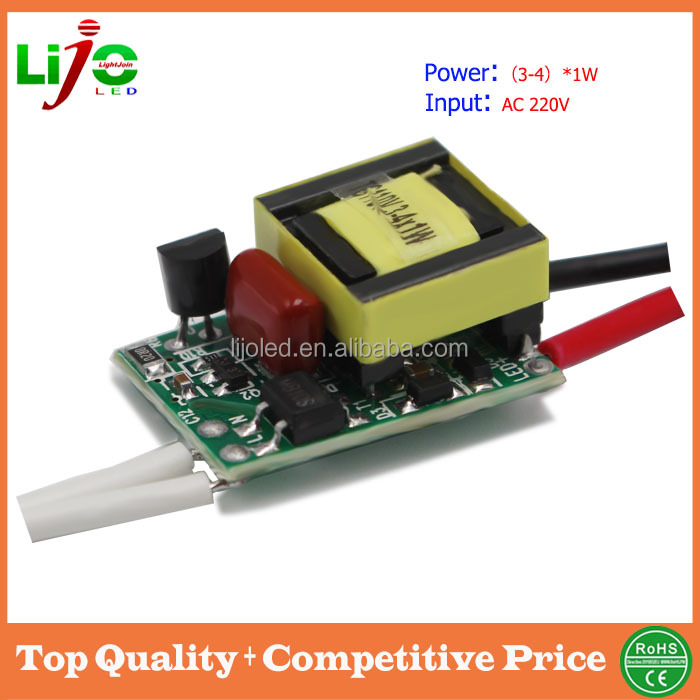 300ma constant current AC110V AC220V 3W dimmable isolated led driver for led light