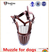 High quality two colors muzzle for dogs with steel wire