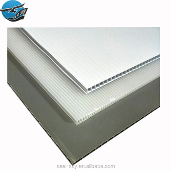 China manufacturer supplier4x8 while correx sheet corrugated board for wall decoration