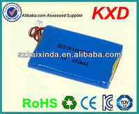 lithium polymer battery 7.4v 650mah for two way radio