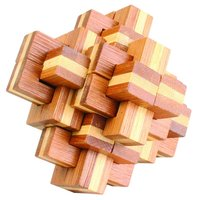 wooden adult toys brain teaser IQ puzzle lock interlock puzzle toys