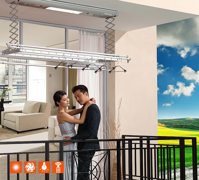 2014 New wholesale multifunctional Automatic clothes rack