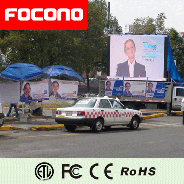 One Double Three many-sided full corol video fuction advertising car led display screen