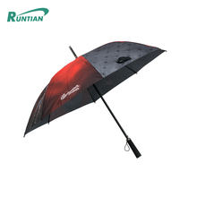 Unique design custom windproof auto open close golf umbrella with logo printing