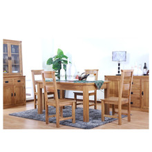 Top sale nordic style furniture dining room table high gloss walnut dining table for 6