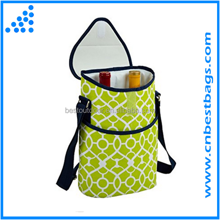 Insulated Wine/Water Bottle cooler bag Tote with Shoulder Strap