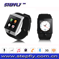 1.54 inch capacitive touch screen bluetooth 4.0 WIFI GPS 3G WCDMA android watch phone s55