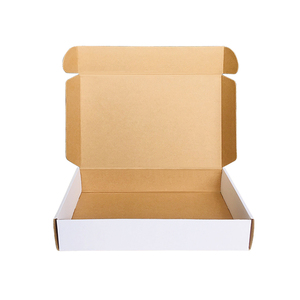 Mengsheng eco corrugated paper custom printed postal mailing flat kraft mailer tuck top shipping white packaging box
