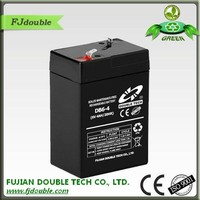 Good quality AGM 6v 4ah rechargeable lead acid battery DB6-4