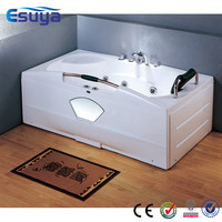 Large plastic bath tub with water heater