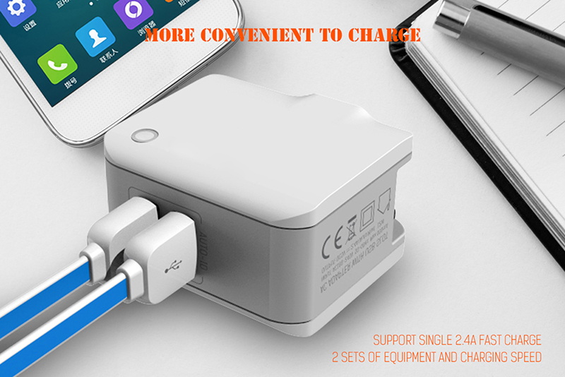 Hot Selling Dual USB 5V-2.4A Quick Charge Universial USB Charger