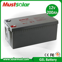 MUST Solar 12V 200Ah Sealed Valve Regulated Gel Battery for Solar Storage