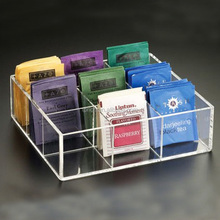 wholesales high quality acrylic tea, coffee bags storage box/holders