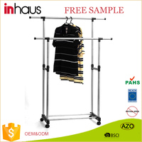 2016 top quality Folding Stainless steel double pole Portable Dryer / Travel Clothes Dryer