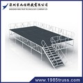 1x2m paint Aluminum protable indoor concert stage