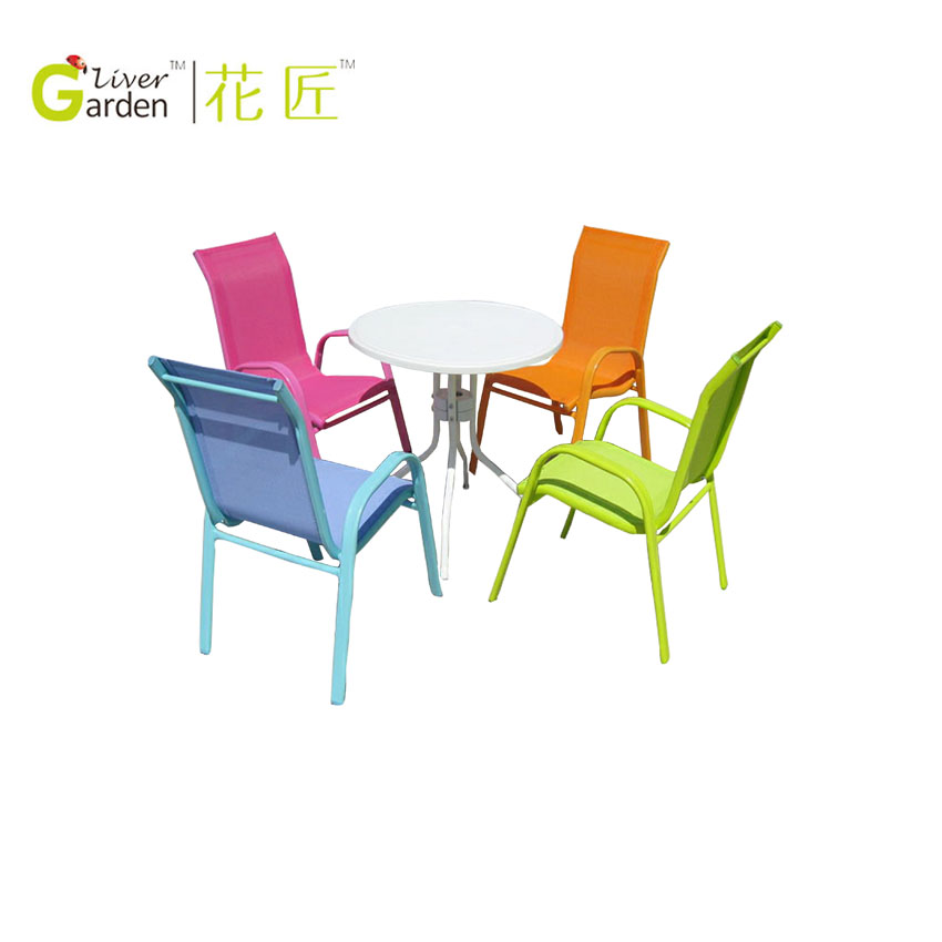Cheap outdoor garden kids chair sling children table and chairs