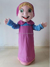 Factory Direct Sale lowest price masha mascot costume masha and the bear, adult masha and the bear mascot costumes