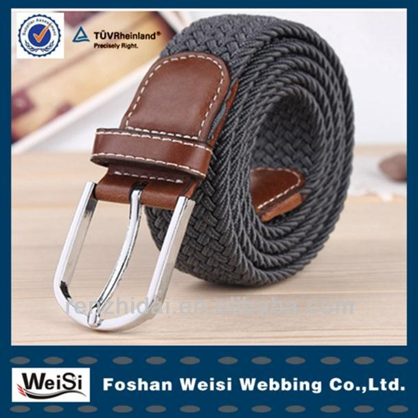 China best service weaving loom belts woven fashion belts for men