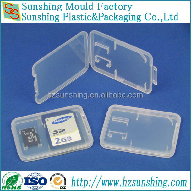 4.5mm slim Double SD card plastic PP case