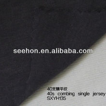 40s combed cotton single jersey fabric