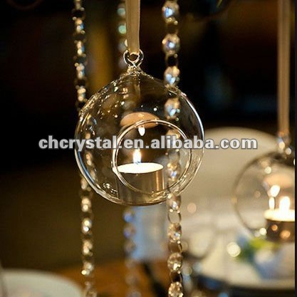 hanging glass bauble globe,hanging glass ball tealight holder