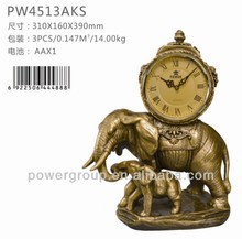 Elephant desk clock Lovely clock with Greek numerals for home & office decoration